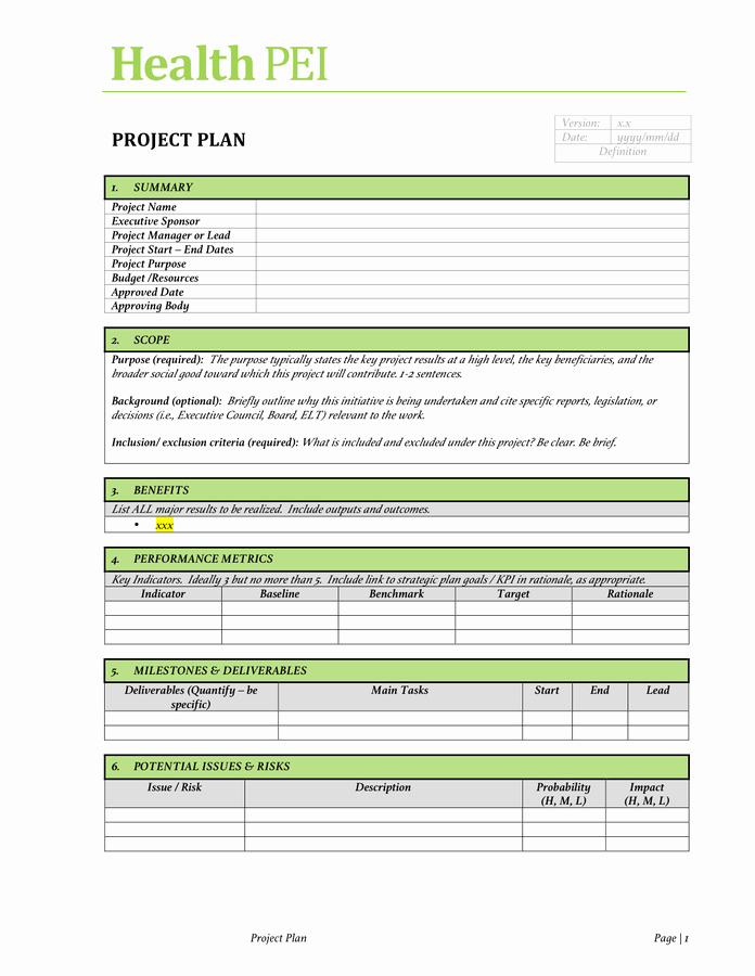 Project Management Charter Template Best Of Project Charter Template Free Documents for Pdf