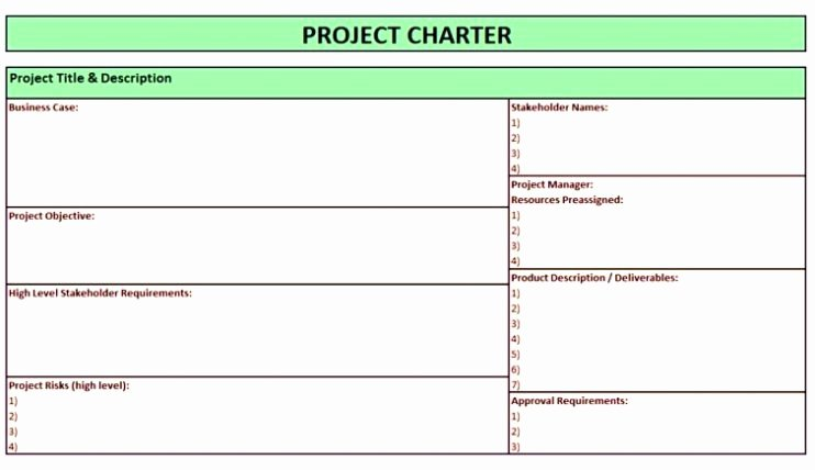 Project Management Charter Template Elegant Project Charter Template Pdf Ppt Free