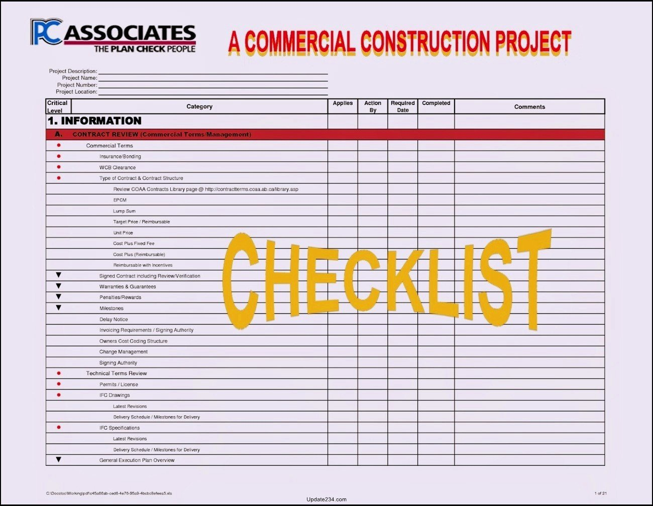 Project Management Checklist Template Beautiful Construction Project Startup Checklist Template