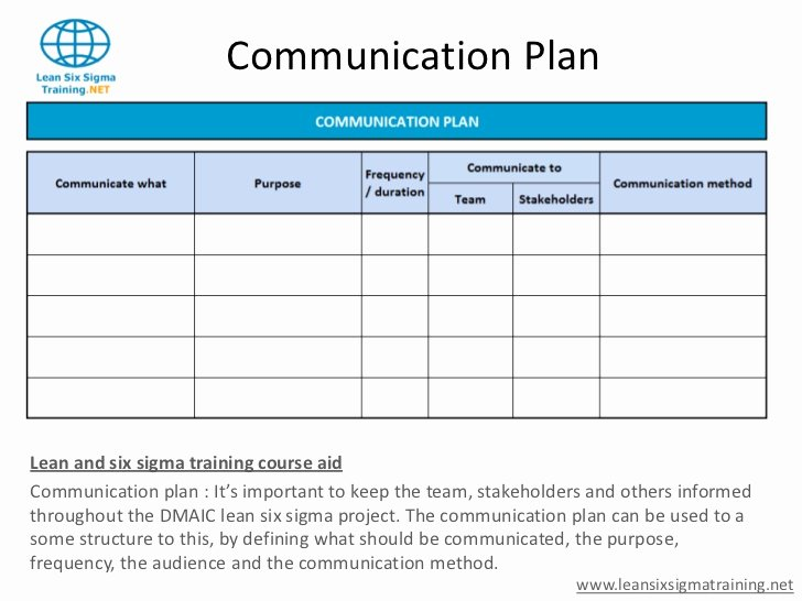 Project Management Communication Plan Template Awesome Munication Plan