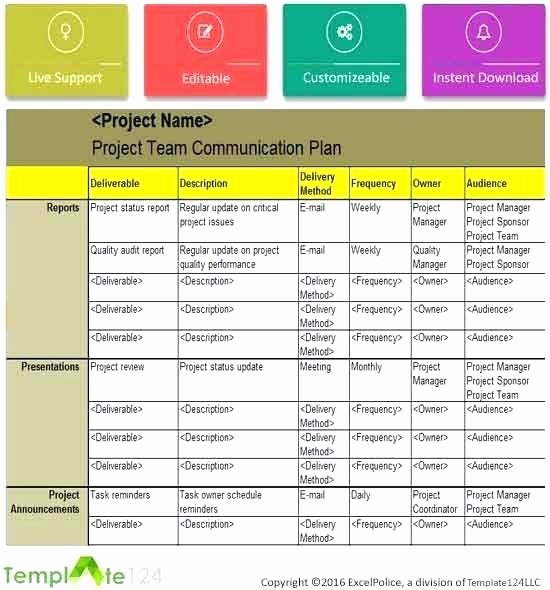 Project Management Communication Plan Template Lovely the Project Munication Plan Marketing Example Pdf