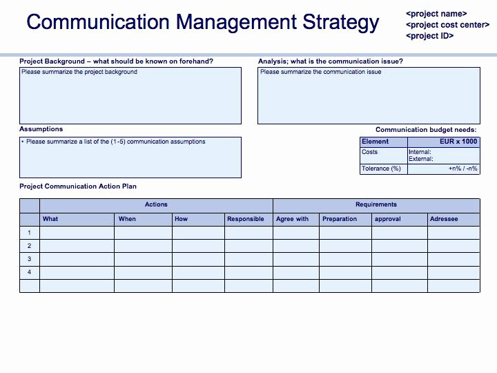 Project Management Communication Plan Template Unique Prince2 In Practice Munication Plan Update