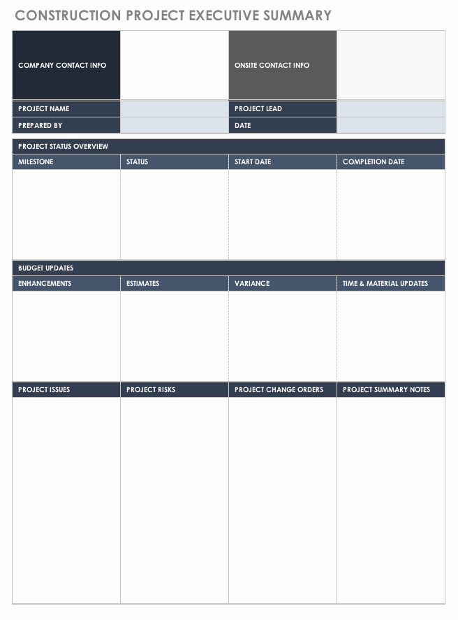 Project Management Executive Summary Template Best Of Free Executive Summary Templates