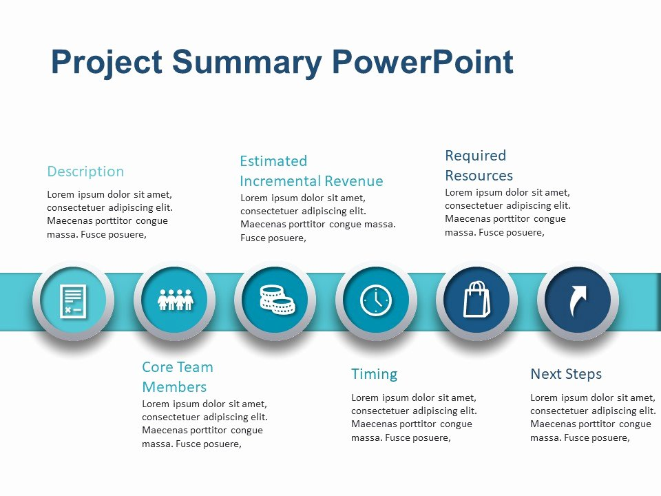 Project Management Executive Summary Template Elegant Project Summary Powerpoint Template 2