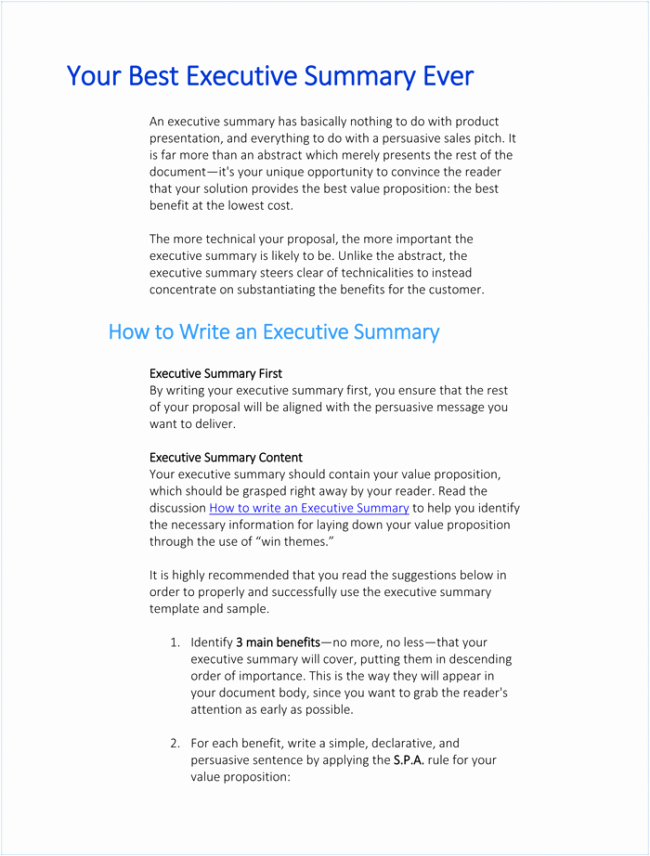 Project Management Executive Summary Template Luxury 5 Executive Summary Templates for Word Pdf and Ppt