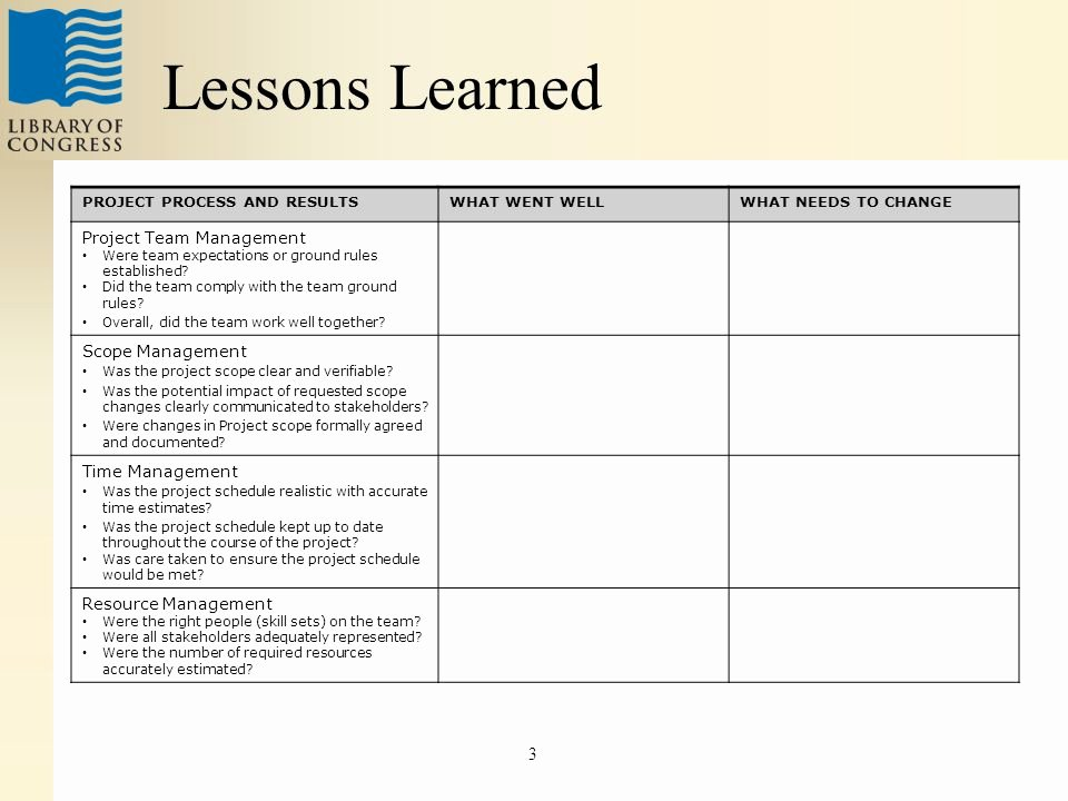 Project Management Lessons Learned Template Luxury Lessons Learned Project Management Template Lessons