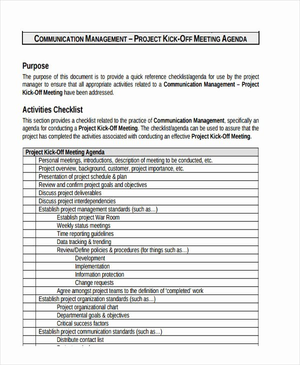 Project Management Meeting Agenda Template Awesome 7 Project Agenda Examples Samples