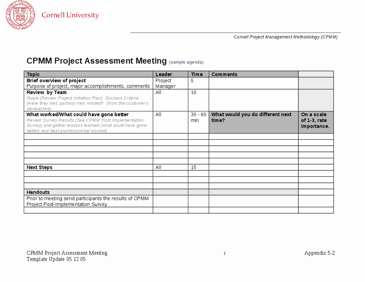Project Management Meeting Agenda Template Best Of Project Management Meeting Agenda to Pin On