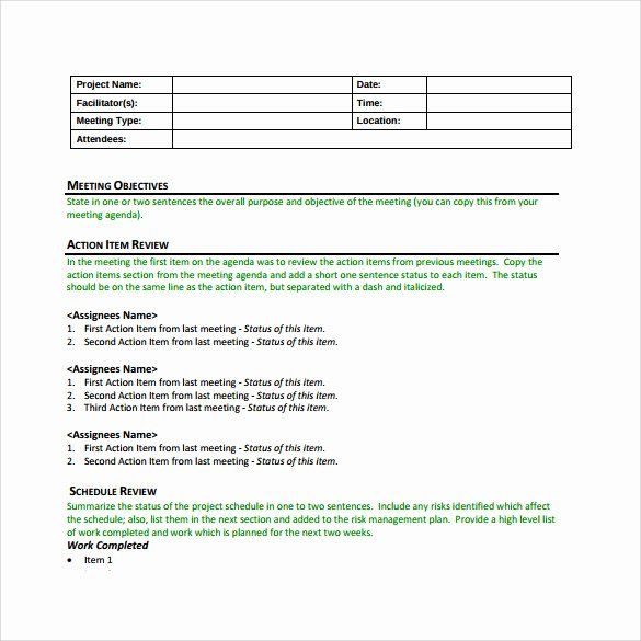 Project Management Meeting Agenda Template Inspirational 13 Project Meeting Minutes Templates to Download