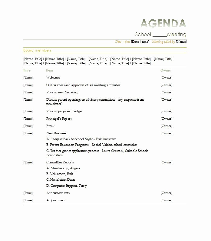 Project Management Meeting Agenda Template Luxury 51 Effective Meeting Agenda Templates Free Template