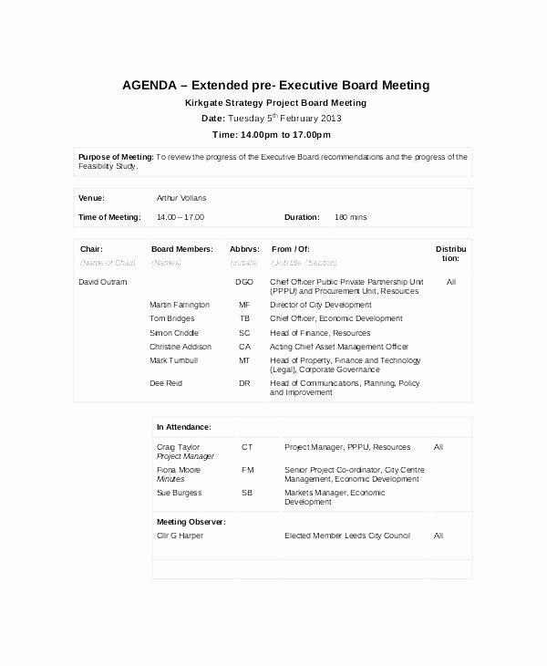 Project Management Meeting Agenda Template Luxury Project Management Kick F Meeting Agenda Template Update