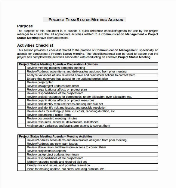 Project Management Meeting Agenda Template Unique 13 Project Meeting Minutes Templates to Download