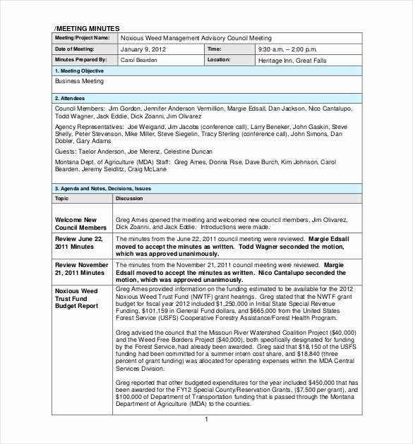 Project Management Meeting Minutes Template Elegant 26 Minutes Templates Word Excel Pdf