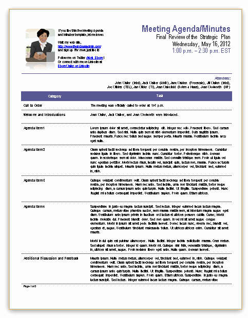 Project Management Meeting Minutes Template New Template for Meeting Minutes
