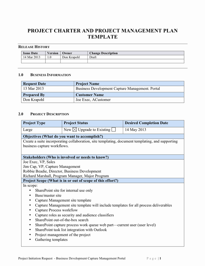 Project Management Plan Template Word Lovely Scope Of Work Template Free Documents for Pdf