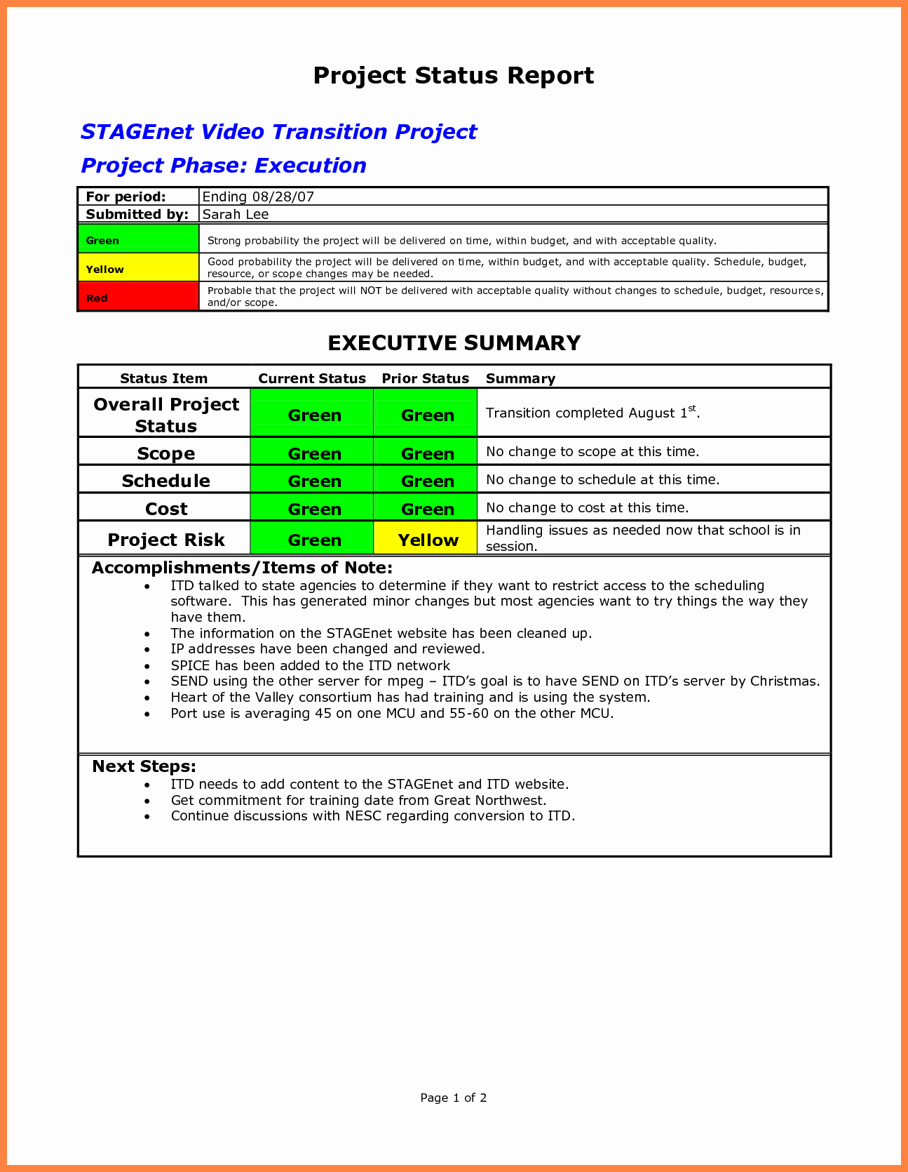 Project Management Progress Report Template Beautiful 10 Progress Report Template for Projects