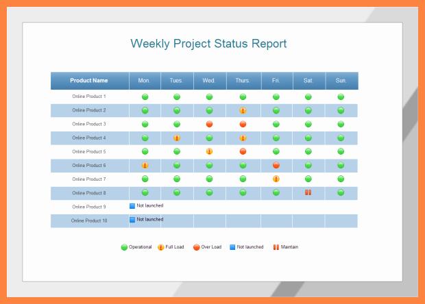 Project Management Progress Report Template Best Of 5 Multiple Project Status Report Template