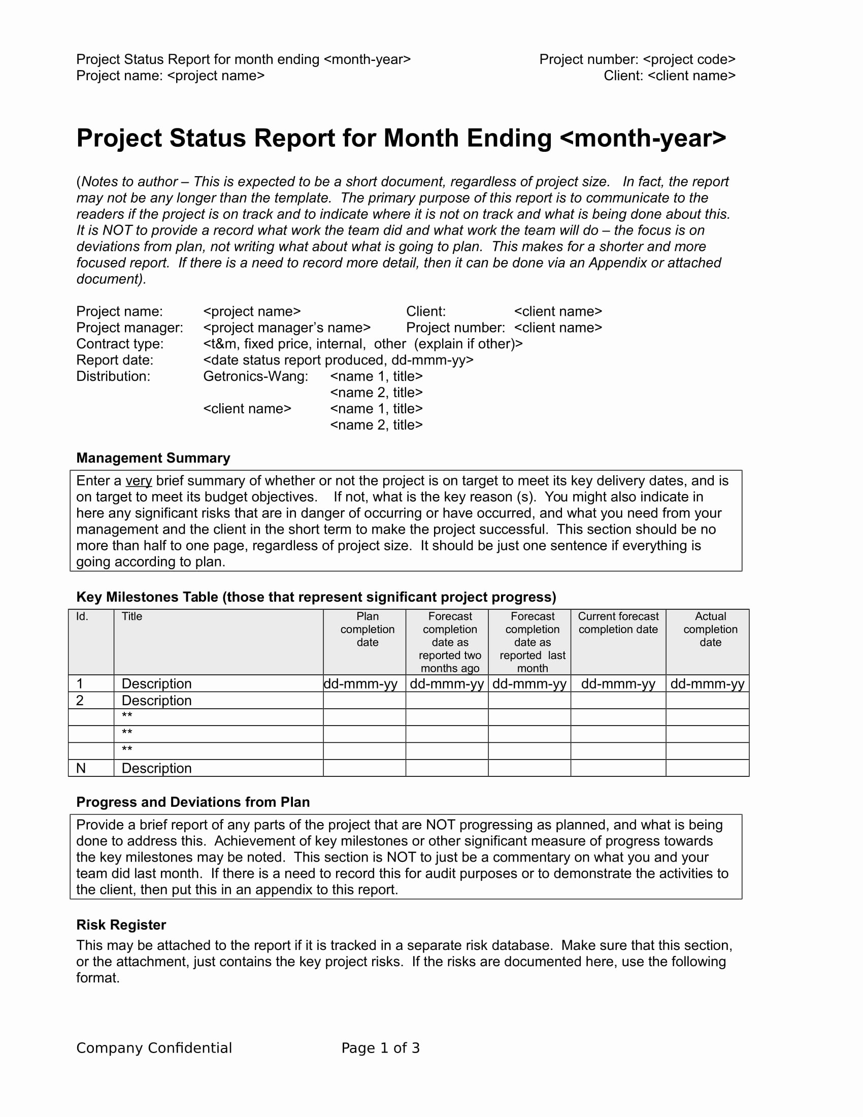Project Management Progress Report Template Lovely 9 Status Report Examples Doc Pdf