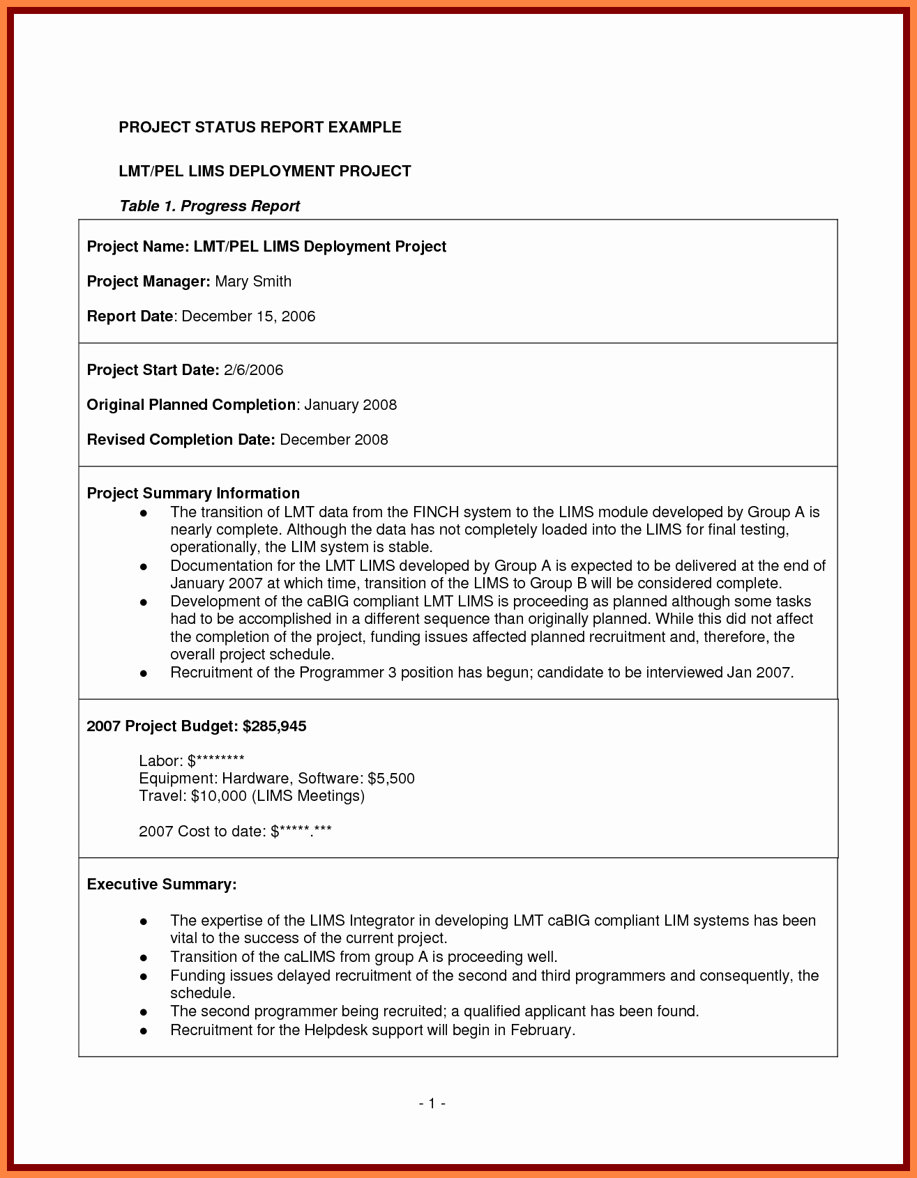 Project Management Progress Report Template Luxury 7 Project Management Final Report Template