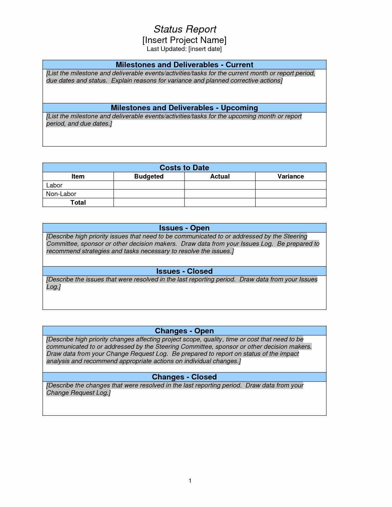 Project Management Report Template Awesome Project Status Report Sample Pmp Pinterest