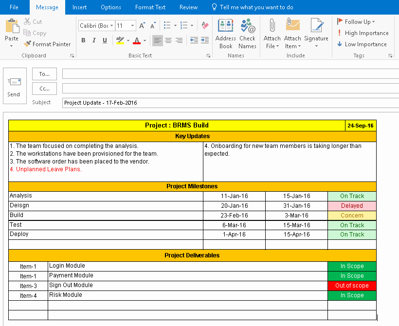 Project Management Report Template Beautiful E Page Project Status Report Template A Weekly Status