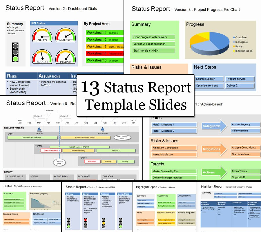 Project Management Report Template Fresh Status Template Be Clear & Successful with Status Reports