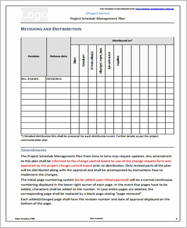 Project Management Schedule Template Beautiful 42 Management Plan Templates Pdf Word