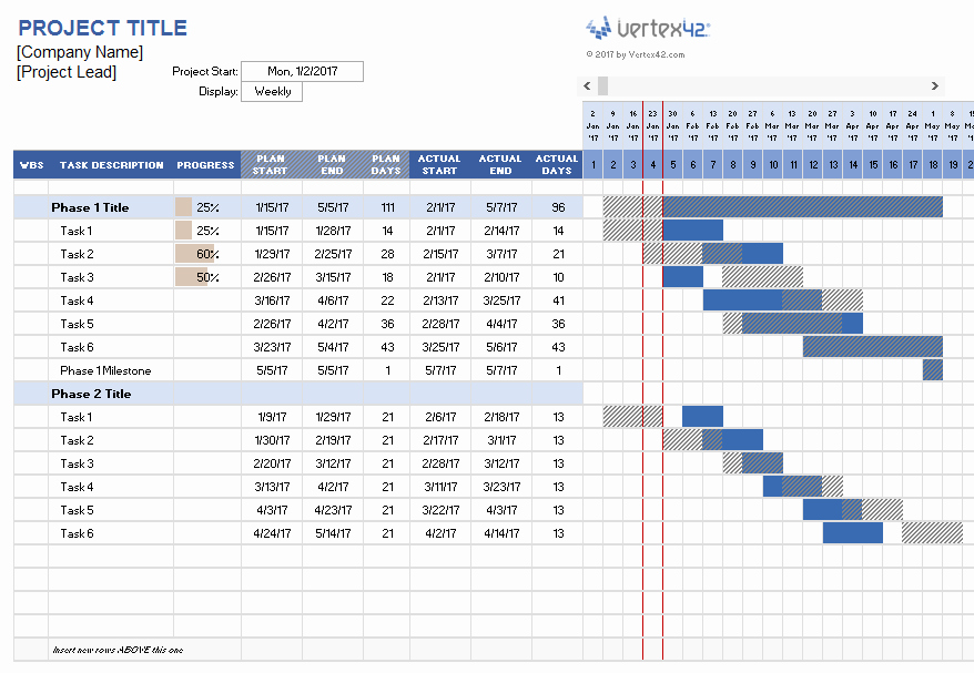 Project Management Schedule Template Fresh Project Management Templates