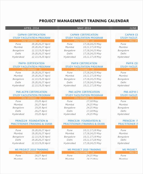 Project Management Schedule Template Inspirational Project Calendar Templates 9 Free Word Excel Pdf