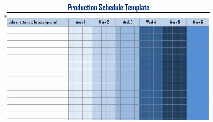 Project Management Schedule Template Luxury Production Schedule Templates In Word format