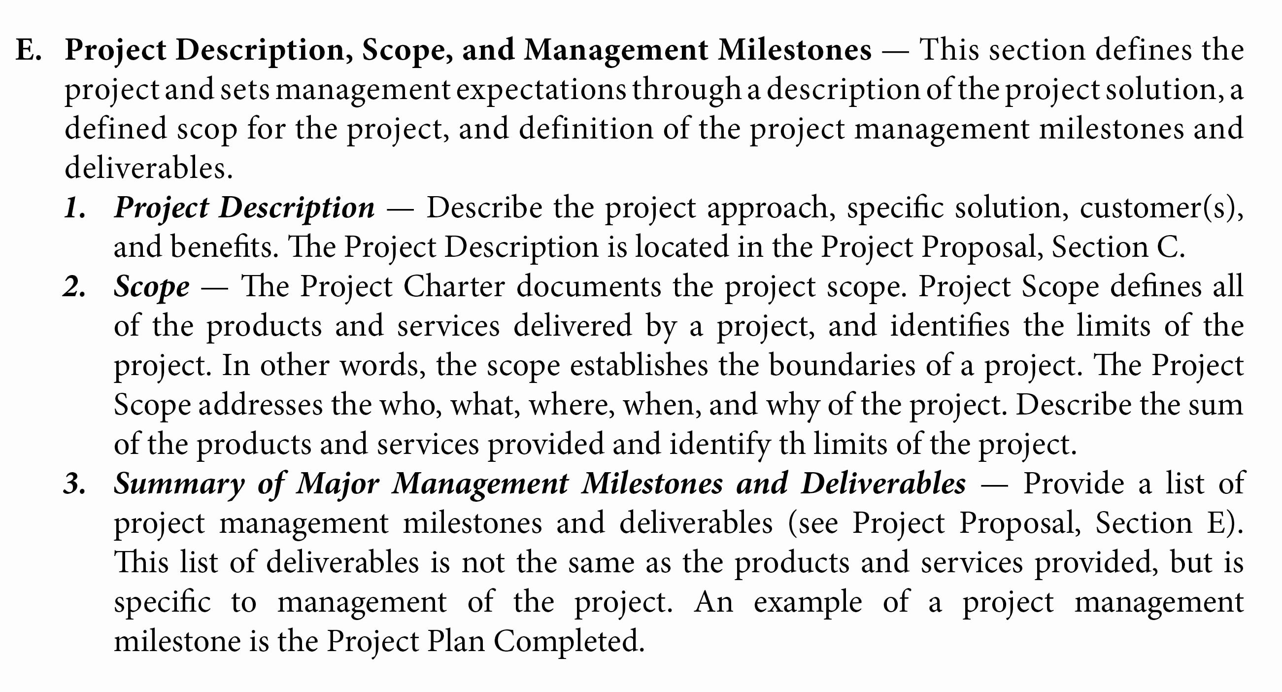 Project Management Scope Template Fresh Project Phases and organization