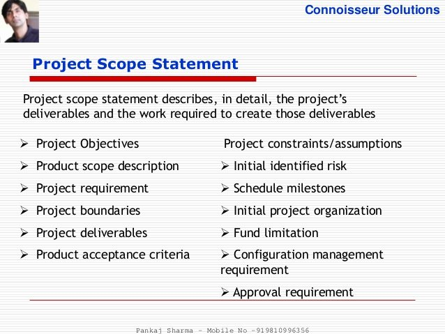 Project Management Scope Template Inspirational Project Scope Management Process