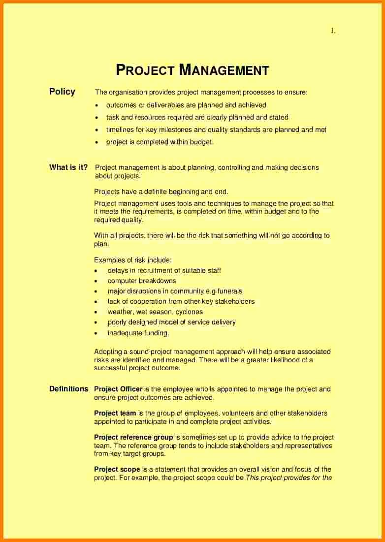 Project Management Scope Template Lovely Scope Statement Example for Wedding Project Template Pdf