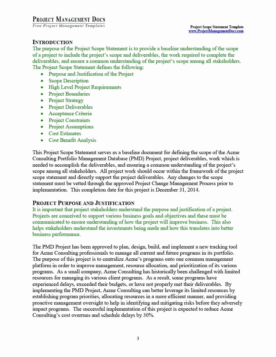 Project Management Scope Template Luxury 43 Project Scope Statement Templates & Examples Template Lab