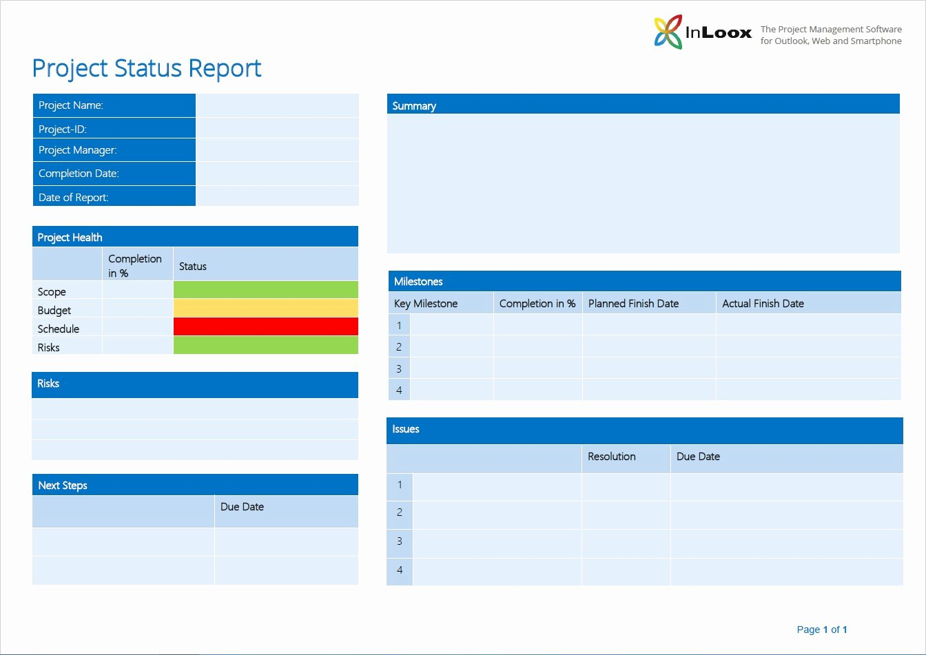 "Project Management Status Report Template Elegant ""what S the 411 "" the Importance Of Project Status"