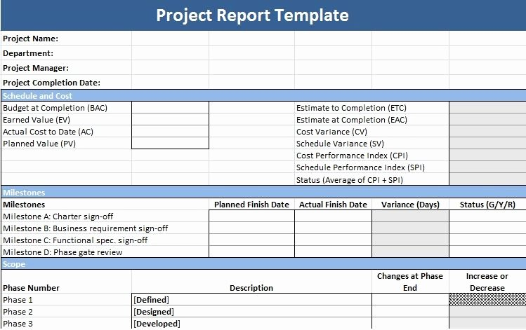 Project Management Status Report Template Luxury Project Management Status Report Template