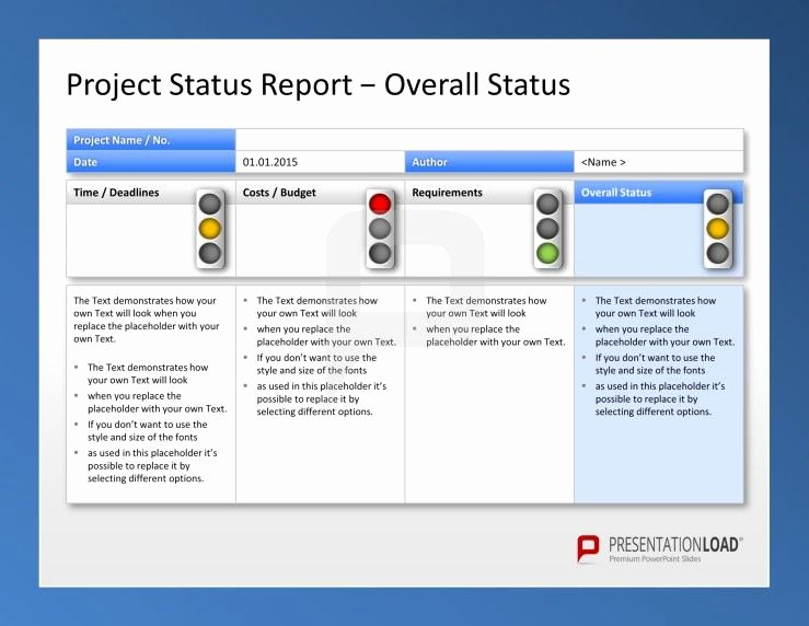 Project Management Status Report Template Luxury Use the Project Management Powerpoint Templates to Report