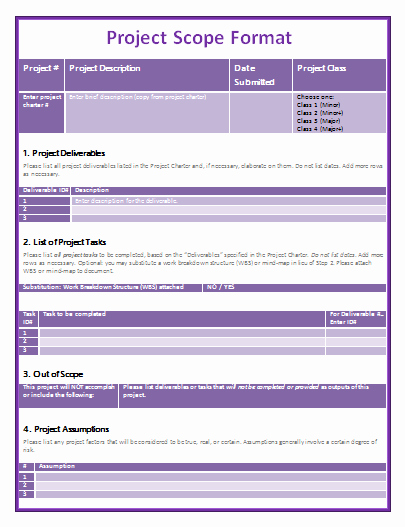 Project Management Template Word Fresh 9 Project Scope Templates