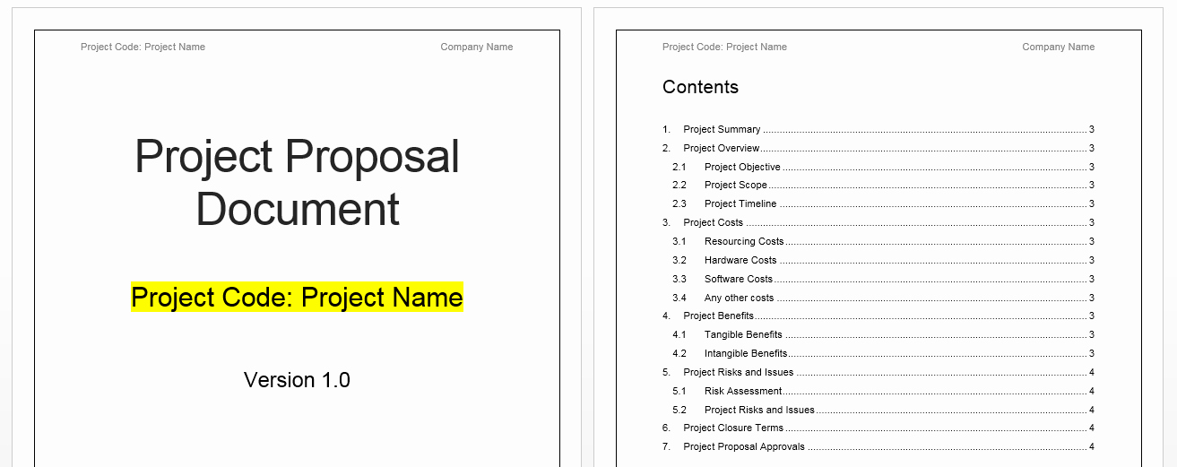 Project Management Template Word Lovely Project Proposal Template Free Project Management Templates