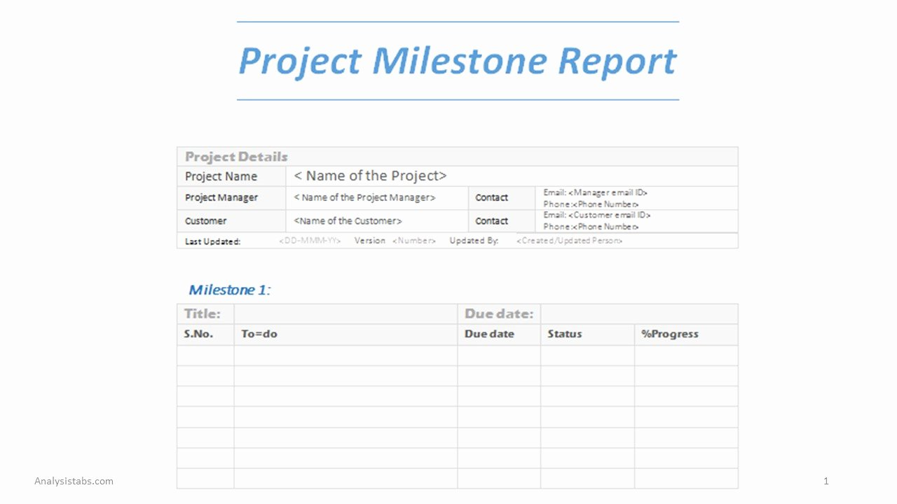 Project Management Word Template Best Of Project Milestone Report Word Template