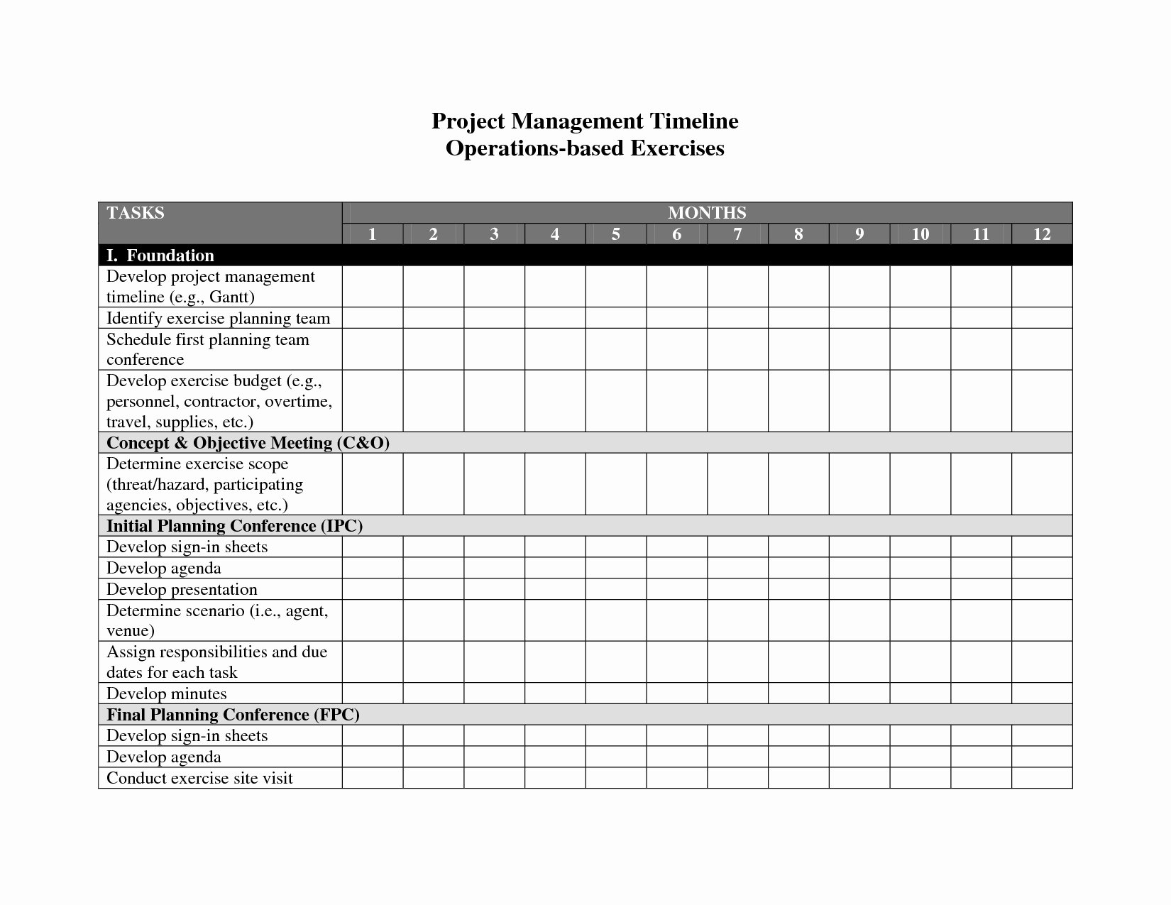 Project Management Word Template Lovely Project Management Timeline Template Word