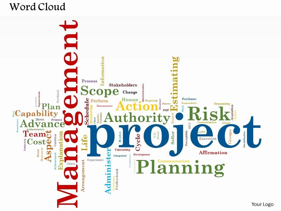 Project Management Word Template New 0514 Project Management Word Cloud Powerpoint Slide