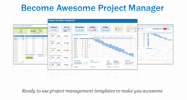 Project Management Word Template New Excel Project & Portfolio Management Templates Download