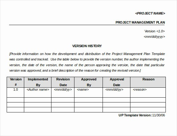 Project Management Word Template New Project Intake Process Template to Pin On
