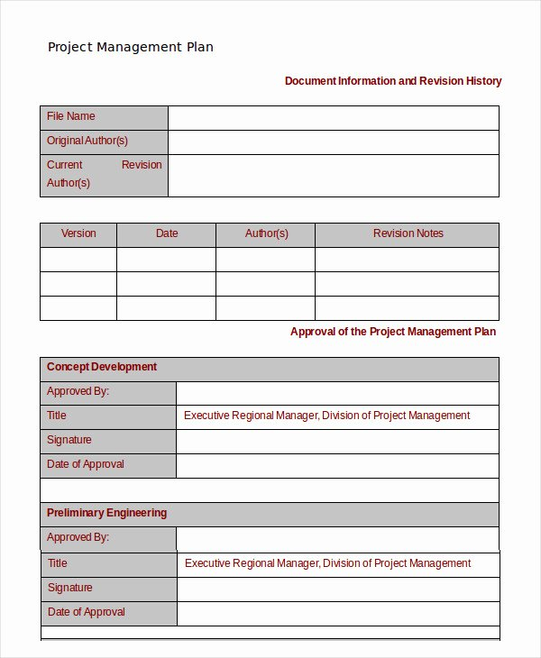 Project Management Word Template New Project Management Template 10 Free Word Pdf Documents