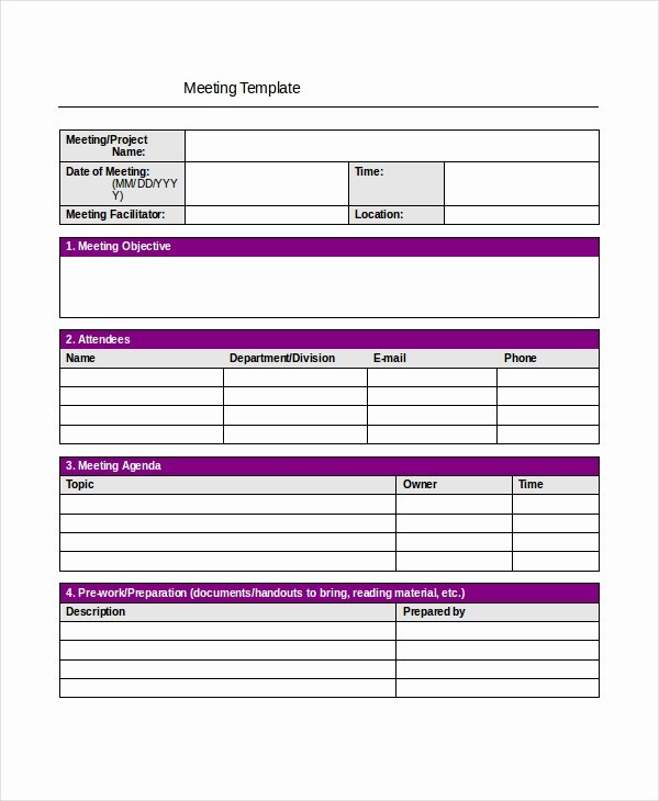 Project Meeting Minutes Template Beautiful Meeting Minutes Template 13 Free Word Pdf Psd