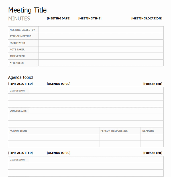 Project Meeting Minutes Template Beautiful Project Meeting Minutes Template