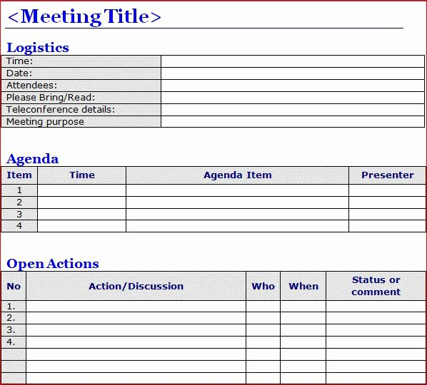 Project Meeting Minutes Template Lovely Minutes Of Meeting Template Word Projectemplates