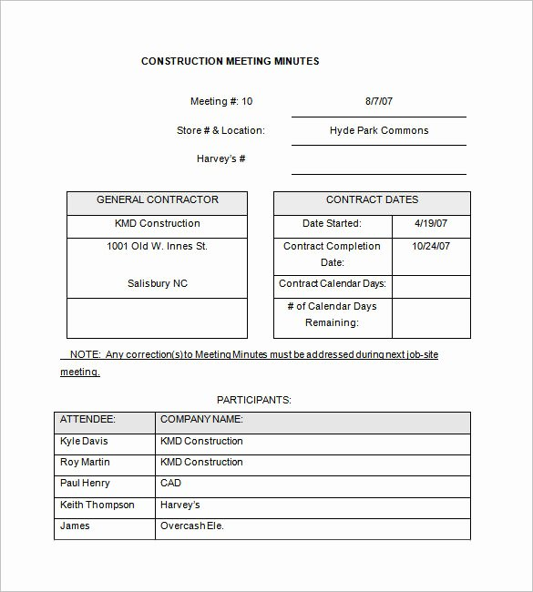 Project Meeting Minutes Template Luxury 13 Project Meeting Minutes Templates Doc Pdf Excel