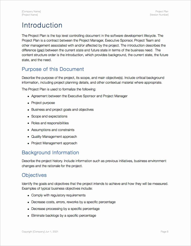 Project Plan Outline Template Awesome Project Plan Templates Apple Iwork Pages Numbers